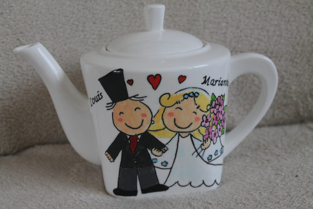 Theepot cadeau voor trouwen