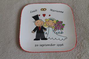 handgeschilderd bord voor huwelijk