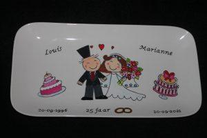 cadeau voor 25 jarig huwelijk