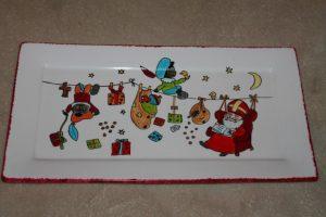 Handgeschilderd sinterklaas bord