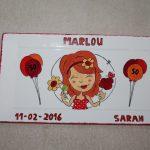 Handgeschilderd bord Sarah door KreaDiva