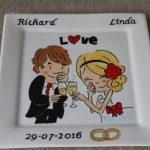 Handgeschilderd bord Huwelijk door KreaDiva
