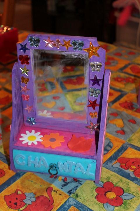 kinderfeest kapspiegel versieren bij KreaDiva