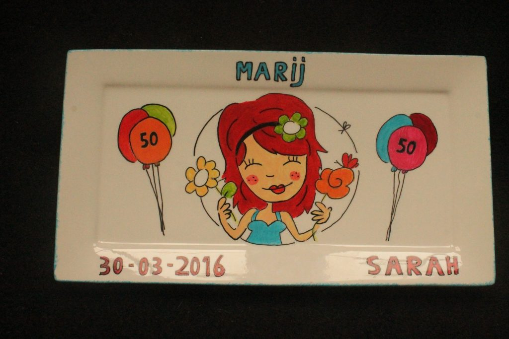 Handbeschilderd Sarah bord