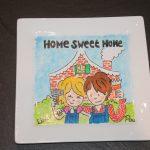 Handgeschilderd bord home sweet home