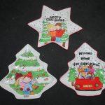 Handgeschilderde borden voor kerst