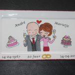 Handgeschilderd bord 50 jarig huwelijk