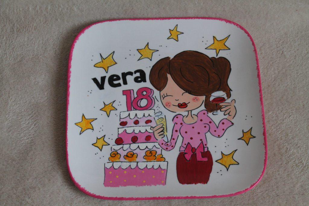 Handgeschilderd bord voor verjaardag 18 jaar