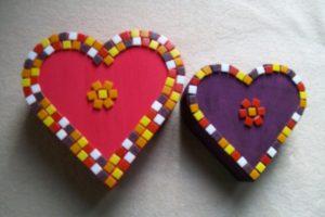 kinderfeest workshop hartjesdoosjes mozaïeken bij KreaDiva