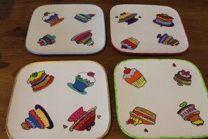 Handbeschilderde gebaksborden