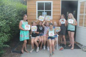 Kinderfeest met workshop servies beschilderen