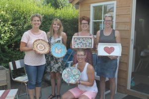 Creatieve workshop mozaieken met vriendinnen