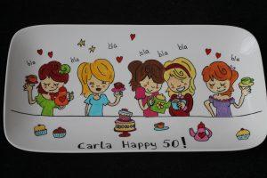 Handgeschilderd bord voor Sarah