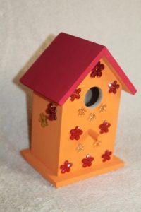 vogelhuisje verven en versieren