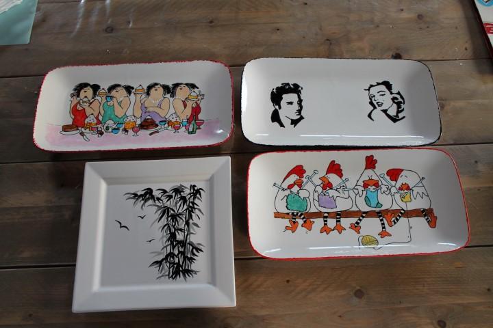 Workshop servies beschilderen in de KreaSchuur