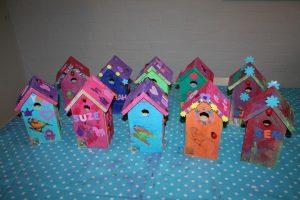 kinderfeest vogelhuisjes